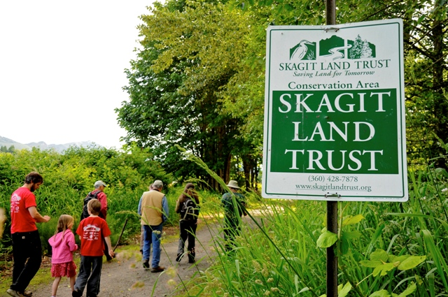 Community members visit Lyman Slough Conservation Area. Photograph credit: Christine Farrow.