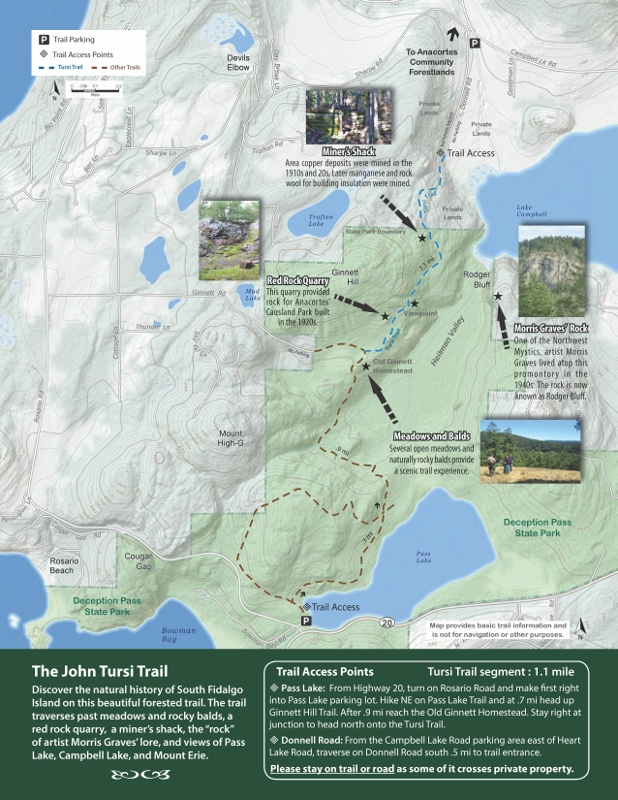 Tursi Trail Guide Map