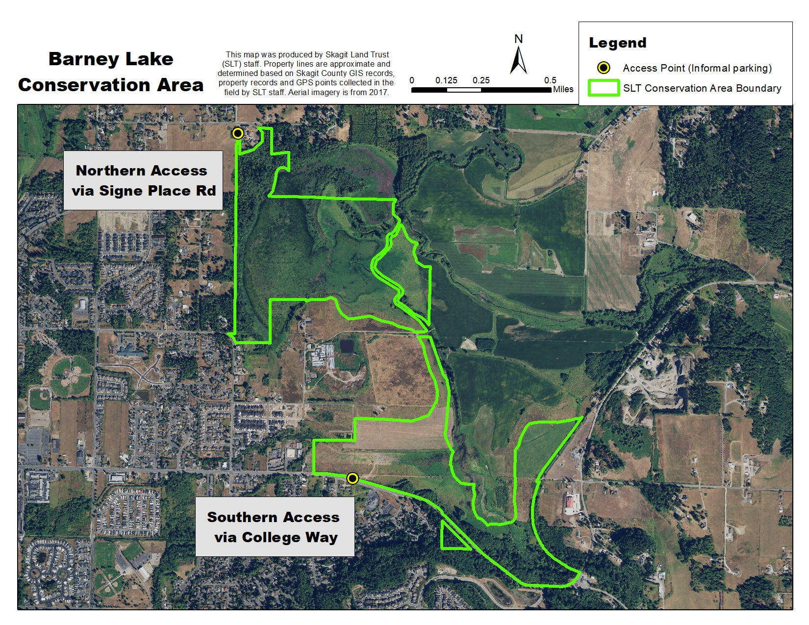Skagit Land Trust GIS map: Barney Lake access
