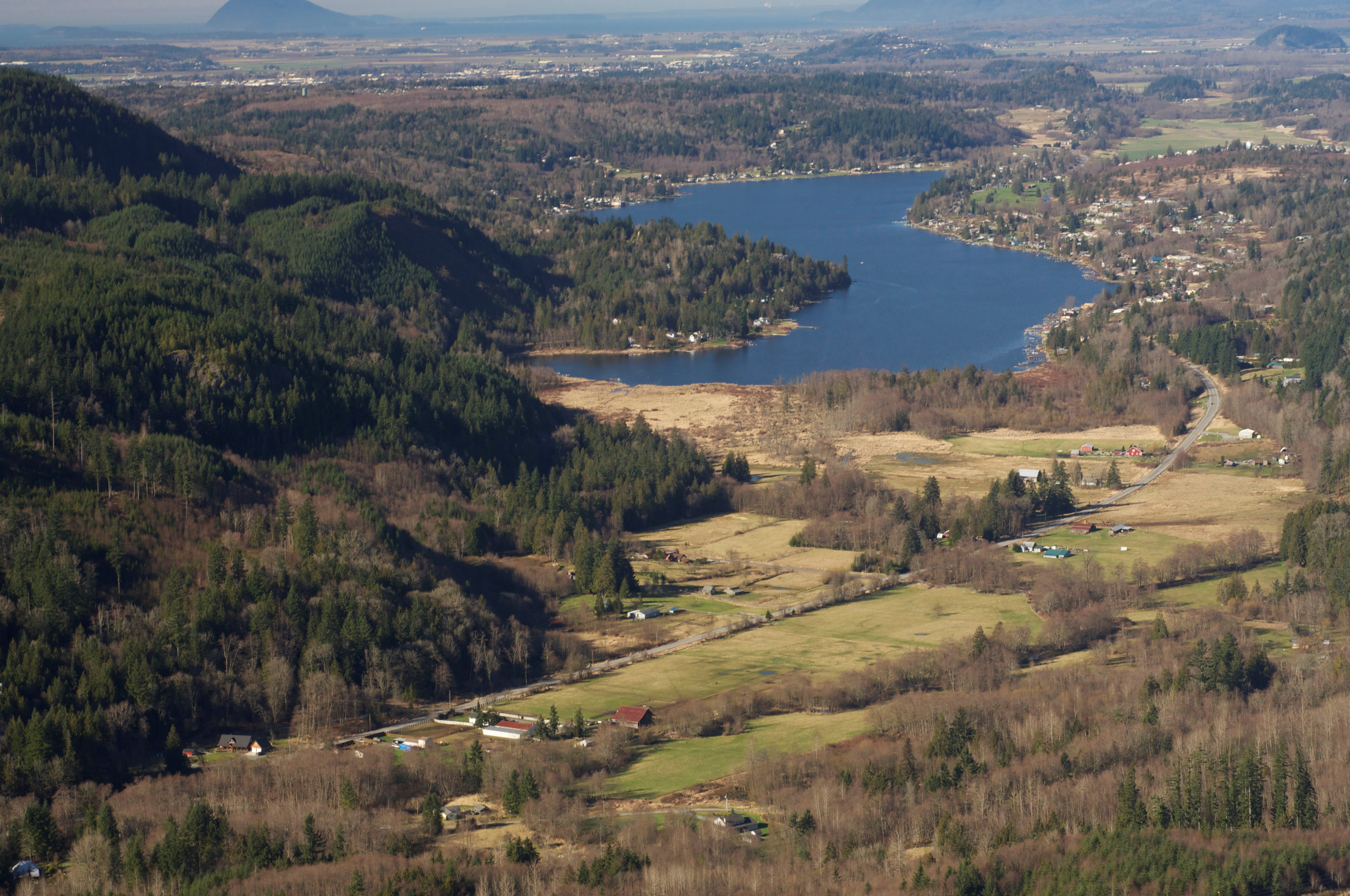 Aerial photograph of Big Lake. Photograph by Chris Farrow.