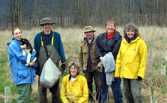 Volunteers at a Skagit Land Trust event.